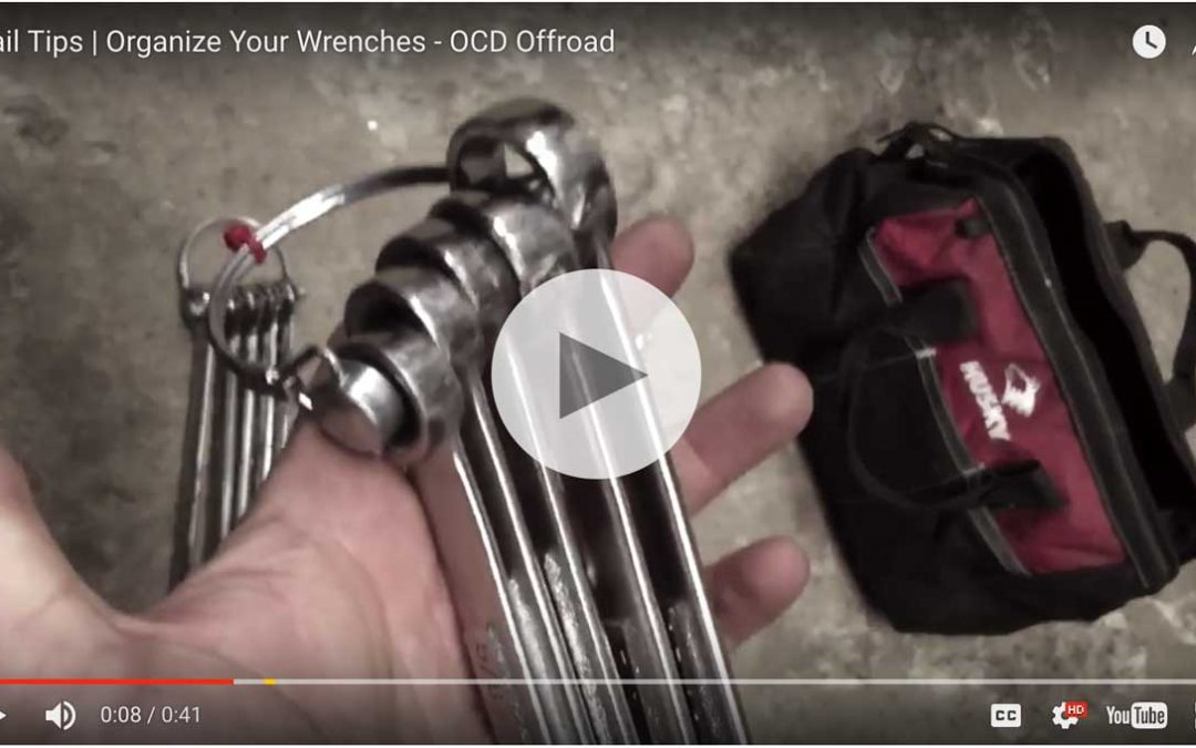 Easy trick for organizing wrenches in your trail bag!