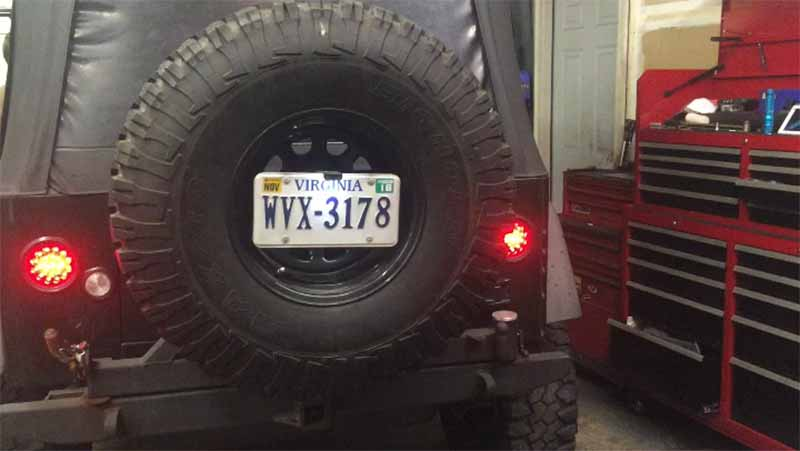 Jeep TJ LED tail light conversion