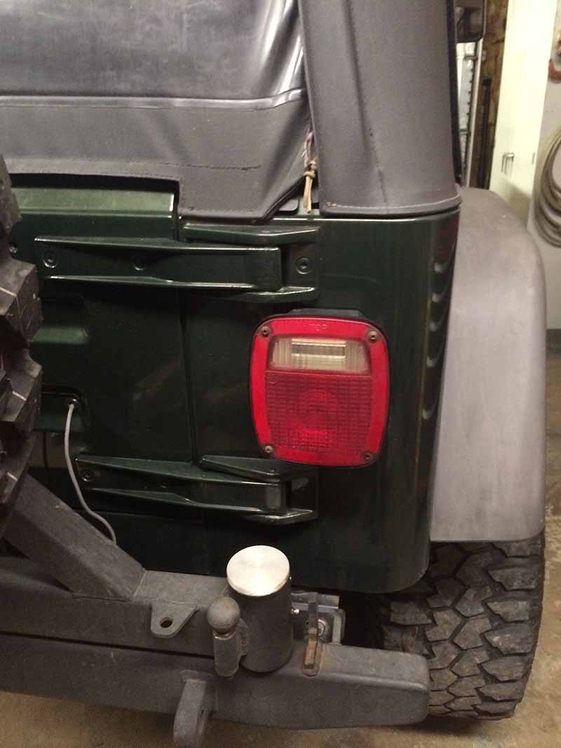 Frenching In Jeep Tj Led Tail Lights Ocd Offroad Shop Wrangler Reverse Basic Installation Guide