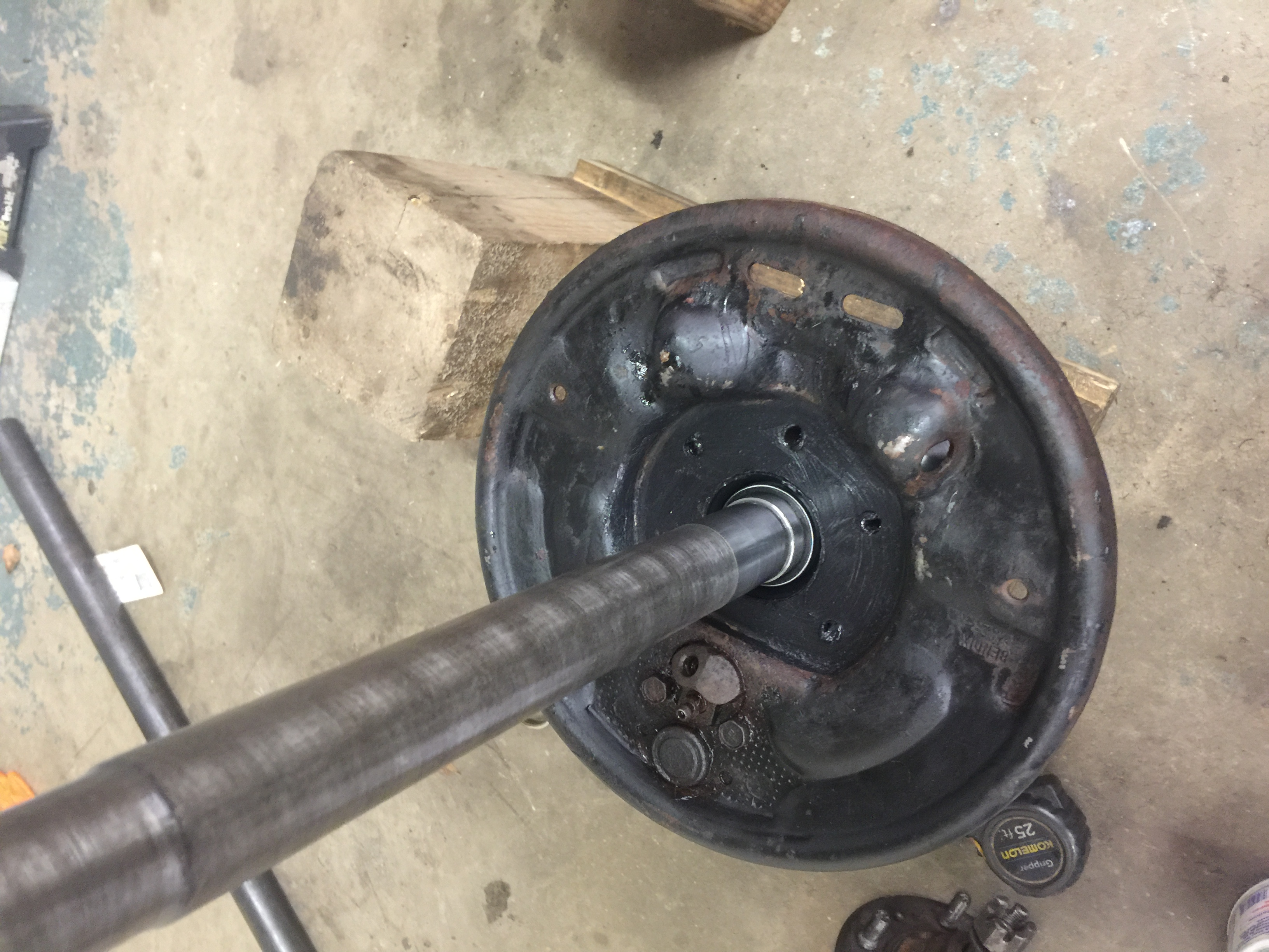 Jeep AMC 20 one piece axle swap